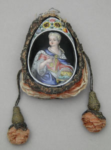 Couple princier, bourse, Atelier Nouailher, Limoges XVIIIè