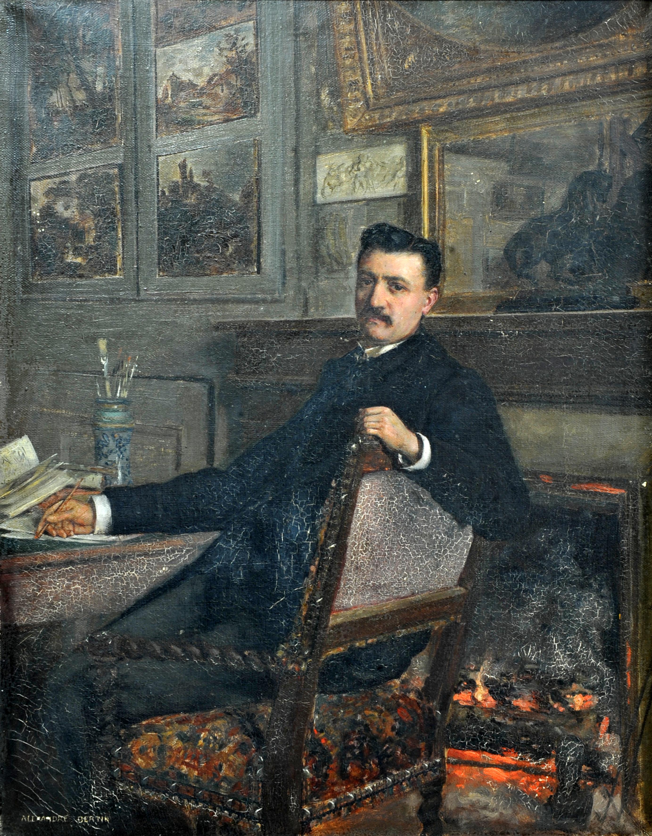 Encart sur Ernest Rupin - portrait d' Ernest Rupin par Alexandre Bertin, fin XIXe