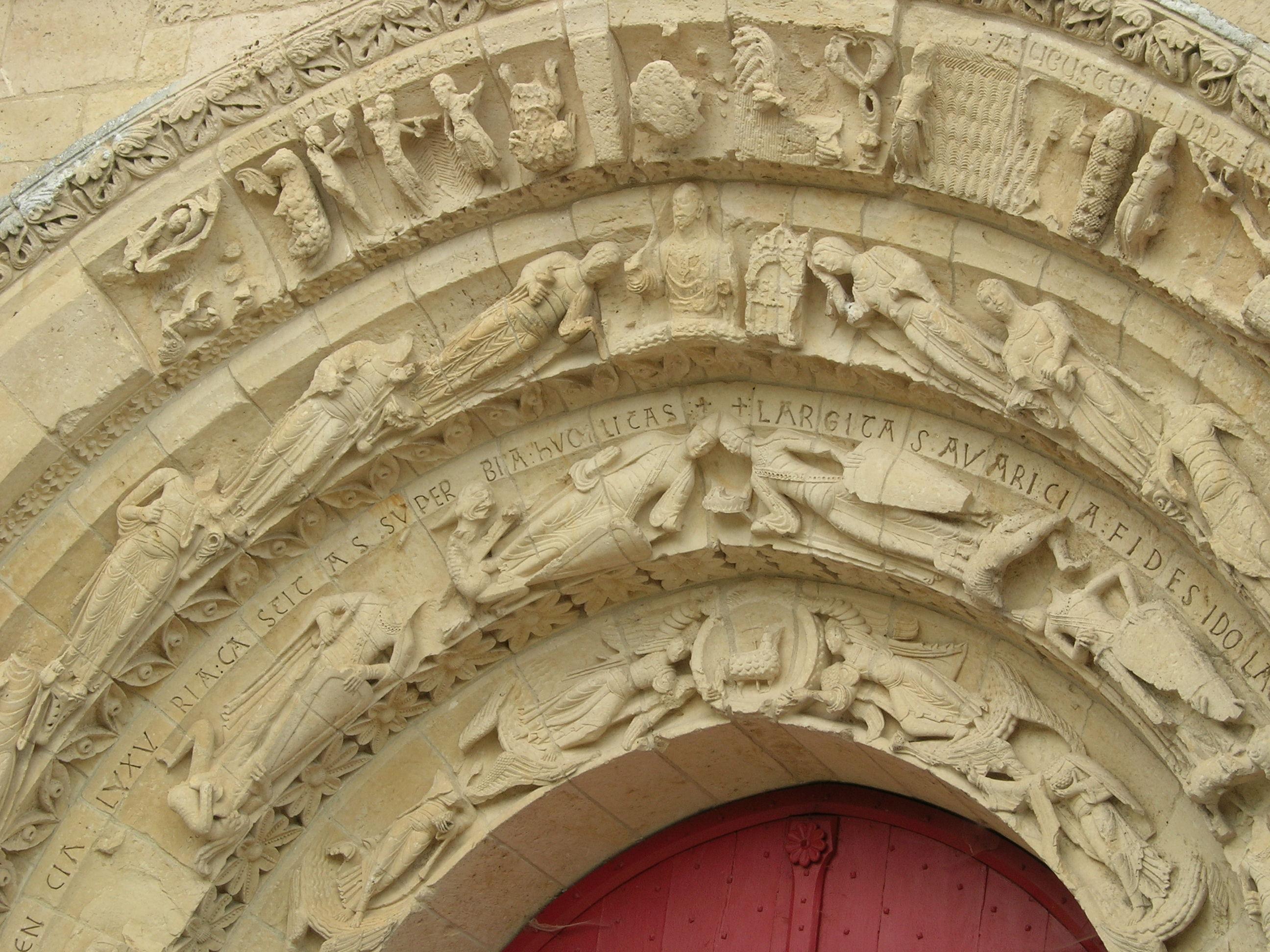 Portail de l'église Saint Pierre à Aulnay de Saintonge