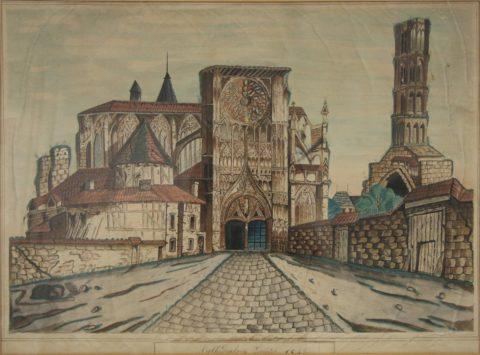 MBA Limoges. Vue cathédrale en 1842 – Copie