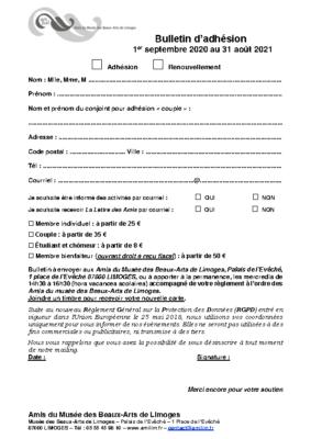 Bulletin d'adhésion 2020202 site