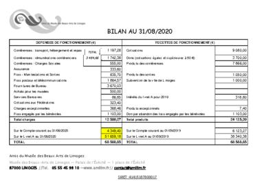 BILAN AU 310820 AMBAL